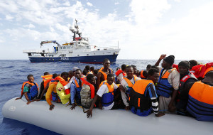 MOAS rescues 105 migrants from rubber dinghy Photo: Darrin Zammit Lupi/MOAS